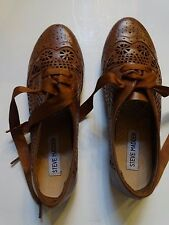 STEVE MADDEN BROWN LACE UP DRESS SHOES YOUTHS/KIDS GIRLS size 6