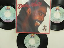 4  ' BARRY WHITE ' HIT 45's+1P(Copy)[Can't Get Enough Of Your Love, Babe]  70's!