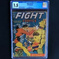 FIGHT COMICS #5 (Fiction House 1940) 💥 CGC 1.5 💥 ONLY 13 in CENSUS! Pre-Code
