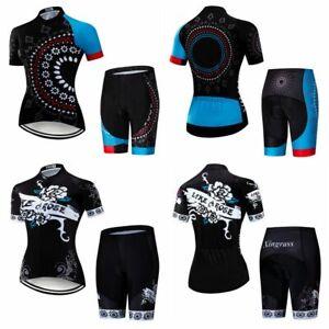 Women's Cycling Clothing Kit Sportswear Women's Bike Jersey shorts Set 12