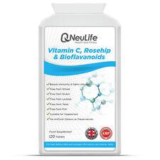 Vitamin C 1000mg with Rosehip 20mg and Bioflavanoids - 120 Tablets