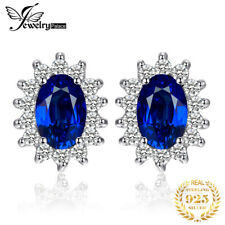 JewelryPalace Diana William Kate Middleton's Sapphire Stud Earrings S925 Silver