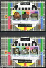 2015 Postzegelbeurs Hilversum blokjes 3012-C-28/29 nrs 1-2 Thema Radio - TV