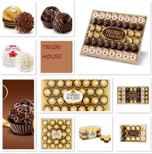 Ferrero Rocher Chocolate GOLD & COLLECTION Gift Box of Chocolate 16/24/48 Pieces
