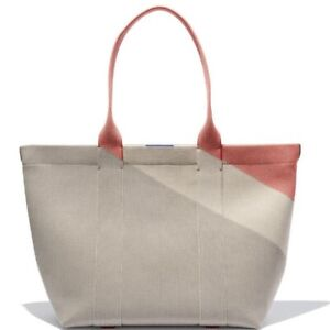 NWOT Rothys Desert Sand Large Essential Tote Bag Purse Grey Red RARE