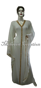 Night Wear Lowest Price Kaftan Abaya Farasha Very Fancy bell Sleeve Bridal Wear
