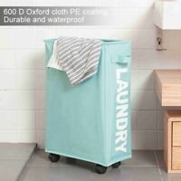 Laundry Basket Folding Dirty Clothes Brake Wheel Organizer Household Storage Bag