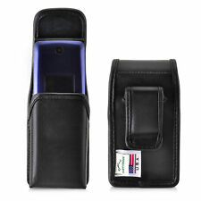 Consumer Cellualr Alcatel GO FLIP Black LEATHER Magnetic Closure Belt