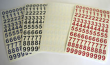 "20 Sticky Vinyl Numbers, Crafts, Menus, Filing, Signs. 2"" High Asst'd Colours."