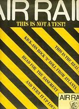 Air Raid Kick Ass R&R from Atlanta 1981 Promo Poster Ad