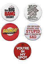 "The Big Bang Theory Button Set (5) 1 1/4"""