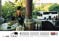 PUBLICITE ADVERTISING 014   1989   RENAULT  autobus FR1 GTX (2 pages) JO ALBERTV