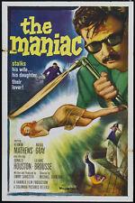Maniac (1963) Cult Horror movie poster print