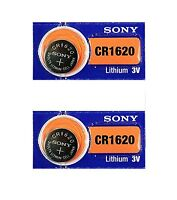 2 New Sony Replacement CR1620 Battery Blister Pack for Nissan Remote Head Key