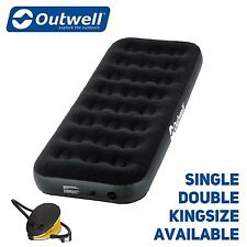 Outwell Compact Inflatable Single / Double / Kingsize Airbed With Pump - Camping