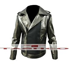 X MEN APOCALISSE Evan Peters QUICK SILVER Faux Leather Jacket di alta qualità