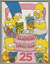 1994 San Diego Comic Program Book Simpsons Cover Jack Kirby Cover Gallery NM-