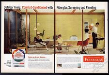 1958 George Nelson Coconut Chair Charles Eames fiberglas chair Owens-Corning ad
