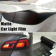 "Matte Black Gloss Smoke Film Tint Headlight Fog Tail light Vinyl Wrap 12"" x 48"""