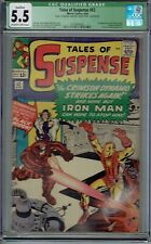 CGC QUAL 5.5 TALES OF SUSPENSE #52 1ST APPEARANCE THE BLACK WIDOW OW/WHITE PAGES
