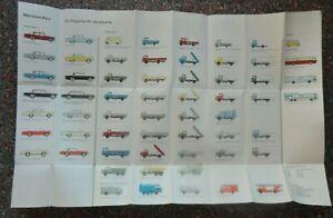 Mercedes-Benz Produktionsprogramm 1964 Prospekt Pkw Lkw Unimog Poster Katalog