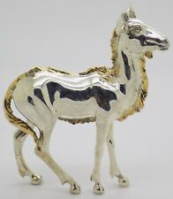 More details for vintage solid silver italian made rare goat statue large figurine hallmarked