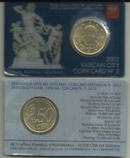 Vaticano.2012.Coin Card N° 3.Contiene il 50 centesimi di Euro come emesso