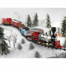 Christmas Train Set North Pole Express Holiday Battery Operated Tree Toy Gift