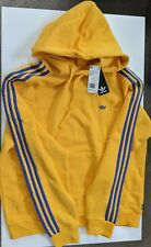 NWT Men's ADIDAS Originals Mini Shmoo Hoodie EC7326 Yellow Blue Logo Size Large