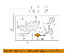 GM OEM Headlight Head Light Lamp-Module 10391611