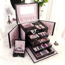 Best Choice Products Leather Jewelry Box Organizer Storage W/ Mini Travel Case Y