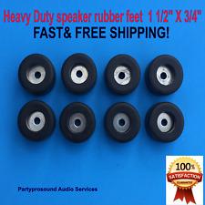 """speaker Rubber Feet HEAVY DUTY  3/4"""" X  1 1/2""""  8 pieces"""