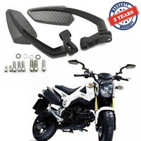 Carbon Motorcycle Rearview Side Mirrors For Honda Grom Yamaha Suzuki Kawasaki