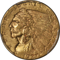 1927 Indian Gold $2.50 PCGS MS62 Great Eye Appeal Strong Strike