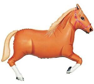 "43"" Jumbo Tan Horse Mylar Foil Balloon Party Decorating Supplies"