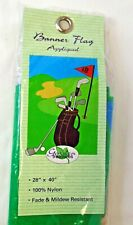 New listing Golf 18th Hole Garden Treasure Outdoor Embroidered Large House Flag Banner 28X40