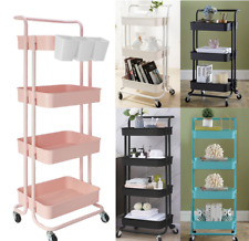 3-Tier Heavy Duty ABS Rolling Utility Cart Storage Organizer Art Craft Cart Home