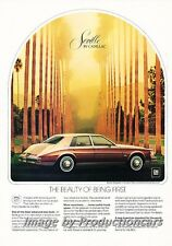 1980 Cadillac Seville Elegante canyon rock- Classic Vintage Advertisement Ad H69