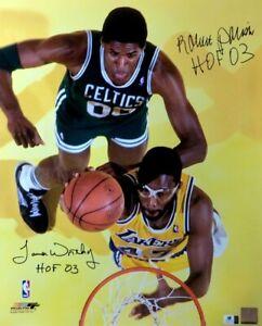 Robert Parish James Worthy Signed Autographed 16X20 Photo Lakers Celtics GA COA