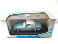 Mercedes 350SL Cabriolet Soft Top Light Metallic Blue  1982  Minichamps