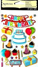 Recollections 3D Stickers - HAPPY BIRTHDAY - Celebration,Cake, Balloons, Gifts