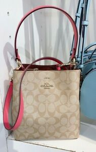 NWT COACH Small Town Bucket Bag In Signature Canvas 2021 new version