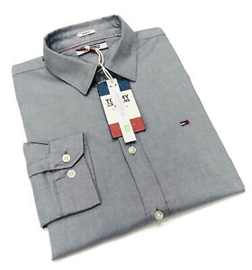 Tommy Hilfiger Men's Slim Fit Oxford Shirt With Cotton Stretch In Grey