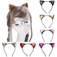 AU_ KQ_ AU_ KF_ Kids Baby Girls Cat Ear Headband Hair Hoop Headwear Birthday Acc