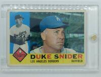 1960 60 Topps Duke Snider #493 Los Angeles Dodgers, HOF