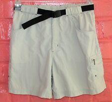 Columbia Womens Sm 100% Nylon Shorts Khaki Tan Quick Dry Hiking Elastic Waist
