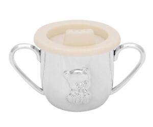 Spout Mug Baby Cup Kids Cup Silver Plated Bear Drinking Mug Engraving