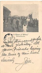 H63/ Howard City Michigan Postcard 1906 Midway Crowd 8000 People 50