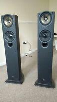 KEF iQ50 Floorstanding HiFi Stereo Speakers 130W RMS 2.5-way (Black Ash Pair)