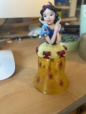 Vintage Snow White Glass Christmas Decoration Bell
